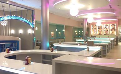 Peacock Loop Diner Interior Design